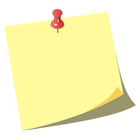 blank post it clipart clipart suggest
