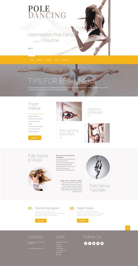 Dance Studio Responsive Website Template 57968 Studio Website Template