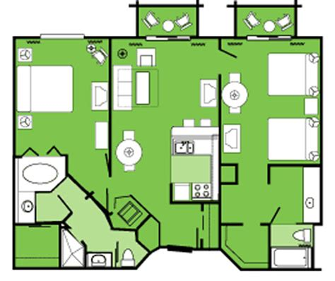 disney club villas disney world orlando fl - Disney Club 2 Bedroom Villa Floor Plan