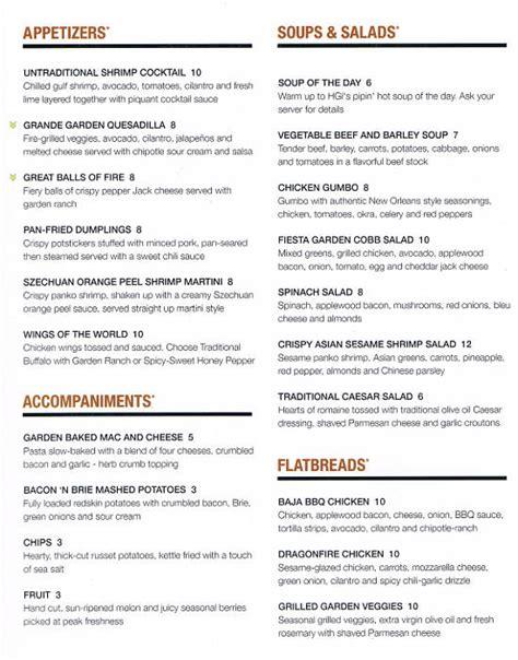 Garden Bar Menu by The Garden Grille Bar Riverwatch Menu Menusinla Lewiston Auburn Maine Restaurants