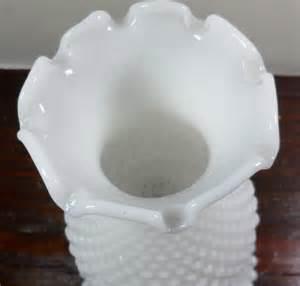 vintage white milk glass hobnail ruffled chimney boudoir parlor l light 11 ebay