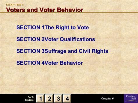 chapter 6 section 4 voter behavior am gov ch06