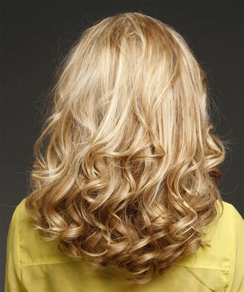blonde medium length curly hairstyles front and back views wavy hairstyles front and back views 15 long bob