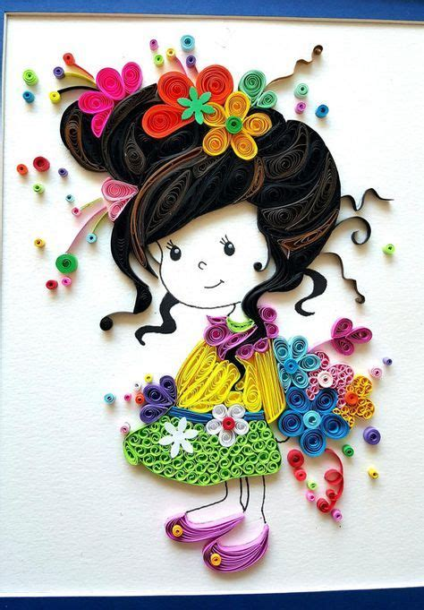 quilling design doll paper quilled evelynn cute little girl doll nursery