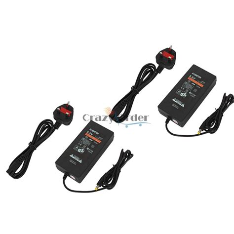 Adaptor Playstation 2 Slim 2x ac adapter charger power supply cable cord for