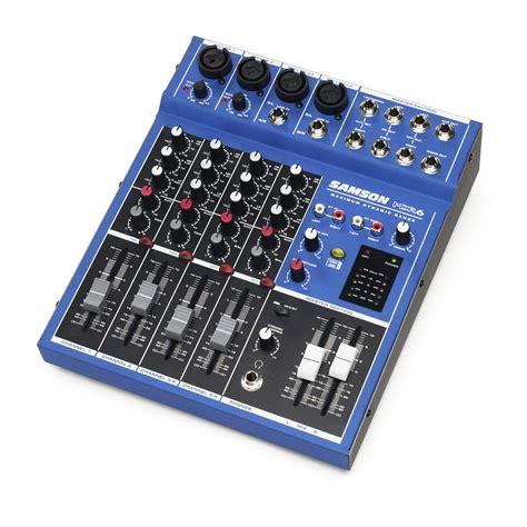 samson mdr6 6 channel mixer