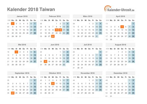 Kalender 2018 Feiertage Luxemburg Feiertage 2018 Taiwan Kalender 220 Bersicht