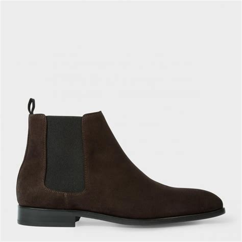 brown suede chelsea boots mens paul smith s brown suede gerald chelsea boots