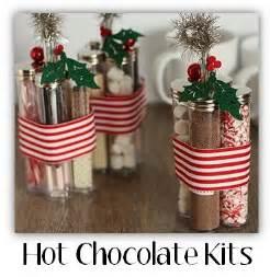 homemade christmas gift idea hot chocolate kits