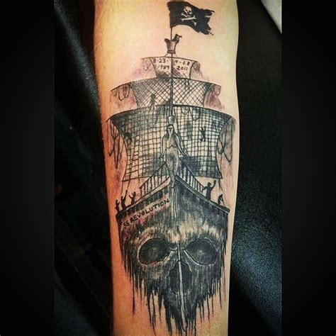 pirate ship tattoo meaning pirate ship