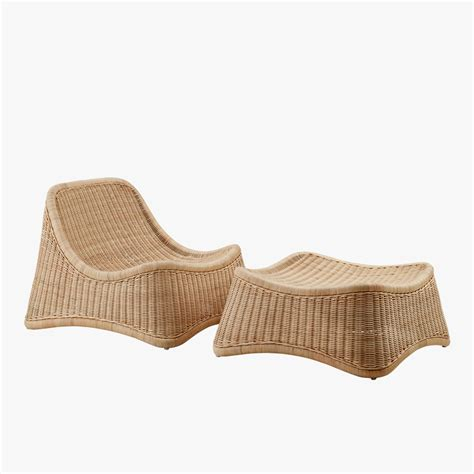 lounge with ottoman rattan chill lounge with ottoman dear keaton