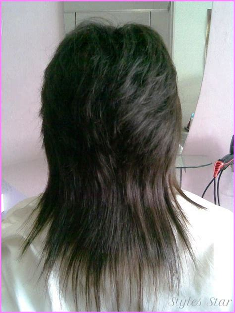 front and back views of chopped hair long choppy layered haircuts back view stylesstar com