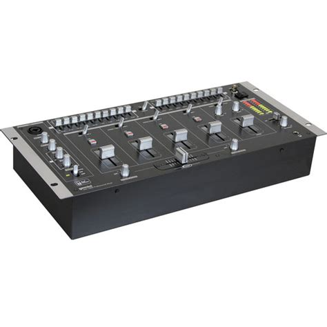 Rack Mounted by Gemini Mm 1800 4 Channel Rack Mounted Dj Mixer Mm 1800 B H
