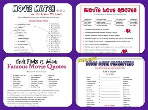 movie themed games movie theme printable games