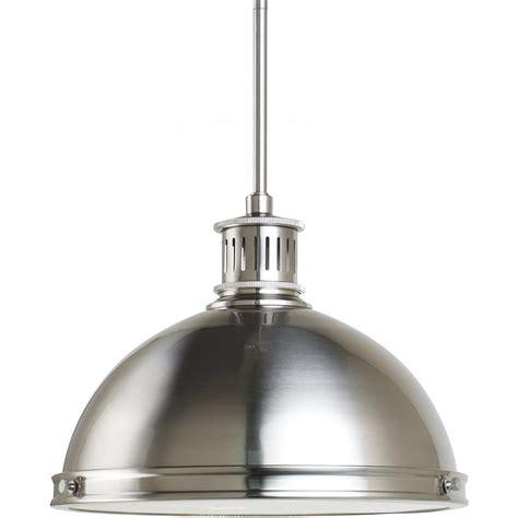 polished nickel pendant light sea gull lighting 2 light brushed nickel pendant the