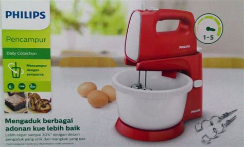 Mixer Stand Mixer Philips Hr 1559 Merah jual philips mixer stand hr 1559 mixer comp hr1559 10 merah promo warungvitato