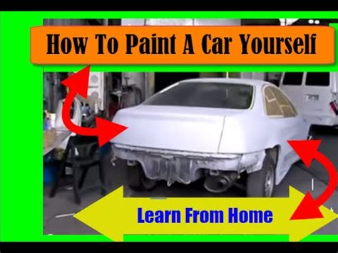 how to paint a car yourself how to paint cars learn