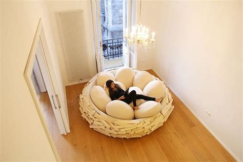 bird nest bed the giant birdnest a cozy wooden bed filled with egg