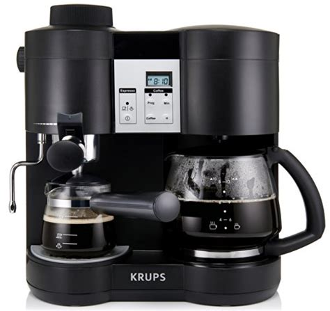 krups coffee maker krups xp160050 coffee maker and espresso machine combination black