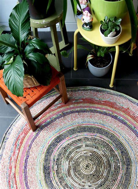 fabric rug diy coil crochet scrap fabric rug diy my poppet makes