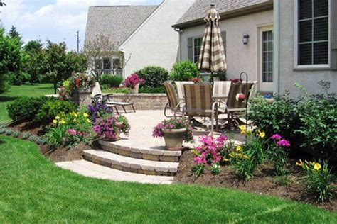 backyard patio landscaping ideas cement patio with drop search garden paths cement patio patios and