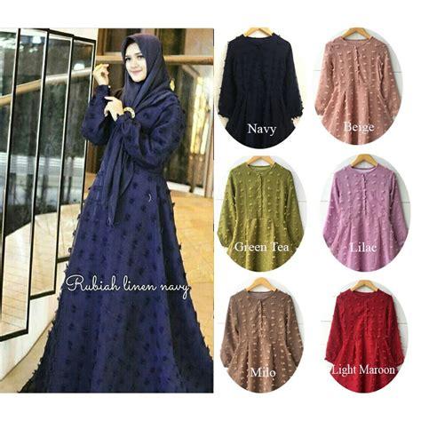 Loly Jumbo Dress Maxi Gamis Muslim rubiah maxi dress jumbo wanita muslim gamis syari lengan