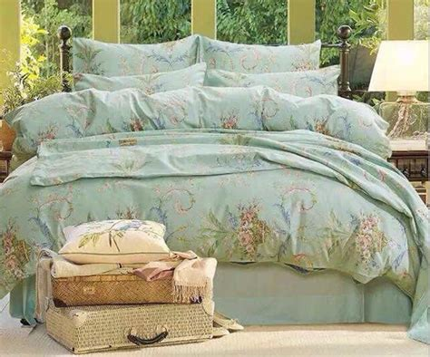 luxury bedding sets king size good quailty grace blue egyptian 100 cotton luxury bedding