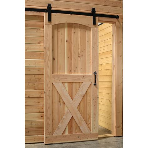 Arched Barn Door Arched Top Crossbuck Sliding Track Barn Door With Hardware
