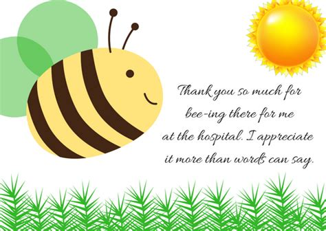 Thank You Letter Visit thank you note wording for hospital visit