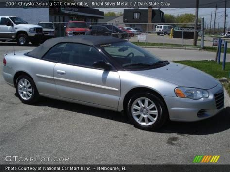 2004 Chrysler Sebring Gtc Convertible by Bright Silver Metallic 2004 Chrysler Sebring Gtc