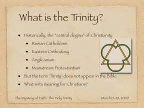 the mystery of faith the holy trinity