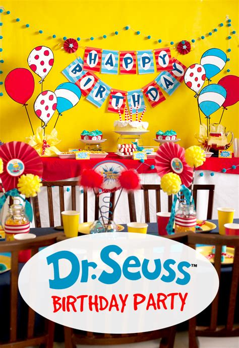 birthday themes website dr seuss birthday party frog prince paperie