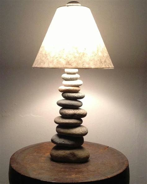 cool lamp   stones   nh reclaimed