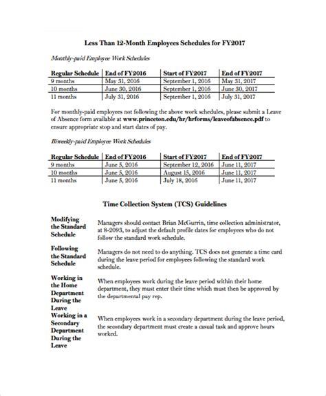 work schedule format agi mapeadosencolombia co