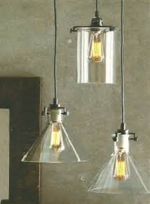 Kitchen Glass Pendant Lighting Clear Glass Collection Bronze 1 Light Pendant Industrial Pendant Lighting By The Light Shop