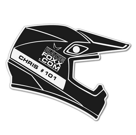 Aufkleber Auf Helm by Aufkleber Mx Helm Motorsport Schwarz Auf Wunsch Mit