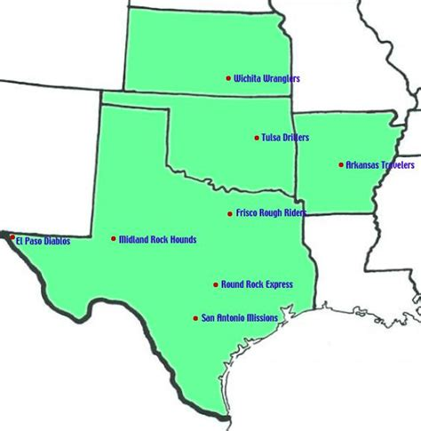 map of arkansas and texas aa teams