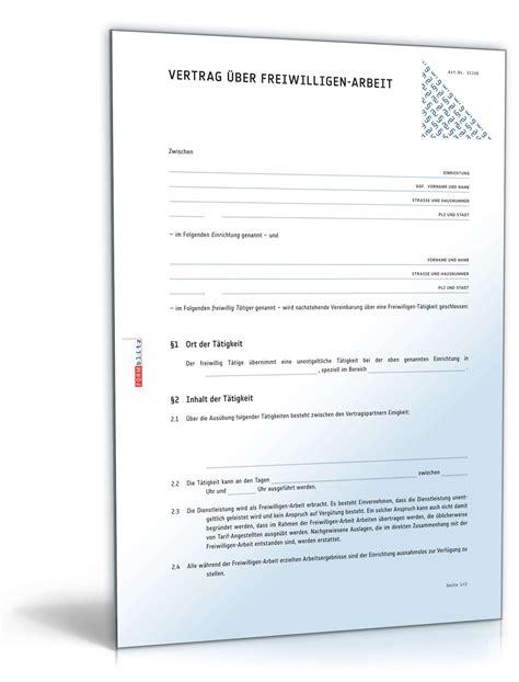 Motivationsschreiben Bewerbung Ngo Ehrenamtsvertrag Vertrag Freiwilligen Arbeit Muster Zum