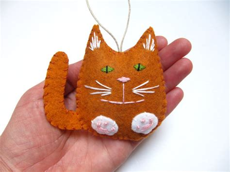 personalized cat christmas ornament felt christmas ornament