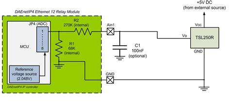 light to voltage optical sensor dae an010 connecting analog sensors to daenetip4 snmp 12