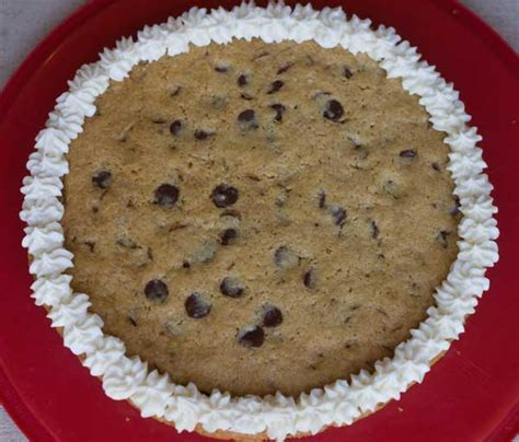 gluten free vegan chocolate chip cookie cake or quot cookie