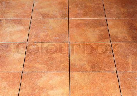 Floor red tile   Stock Photo   Colourbox