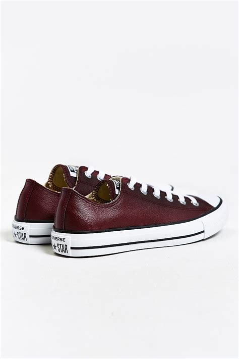converse chuck all low top sneaker converse chuck all leather low top sneaker in