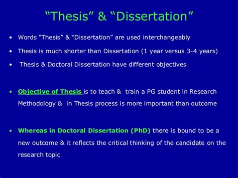 difference between thesis and dissertation what is the difference between thesis and dissertation