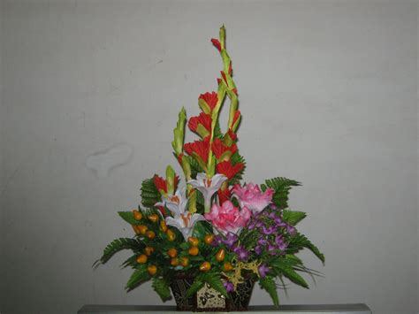 bunga meja karangan bunga di pekanbaru