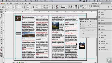 indesign online tutorial adobe indesign cs6 tutorials text and objects