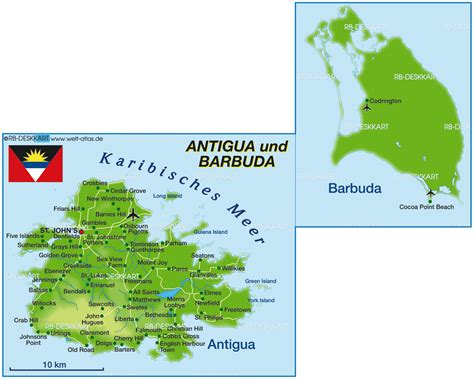 antigua and barbuda map karte antigua und barbuda land staat welt atlas de