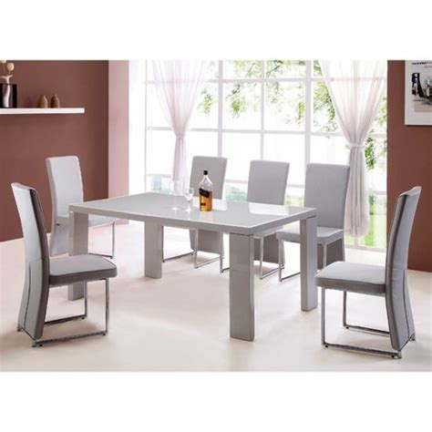 light grey dining table high gloss grey dining table and 4 light grey
