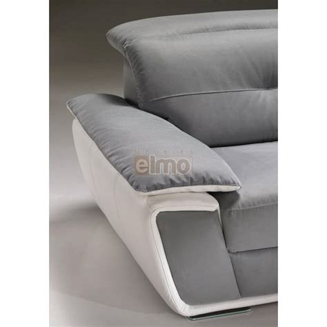 canape d angle bicolore canap 233 d angle cuir bicolore avec t 234 ti 232 re inclinable