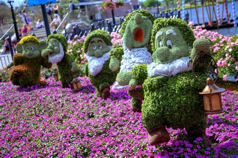 Epcot Flower And Garden Festival The Theme Park Of Walt Disney Flower And Garden Festival